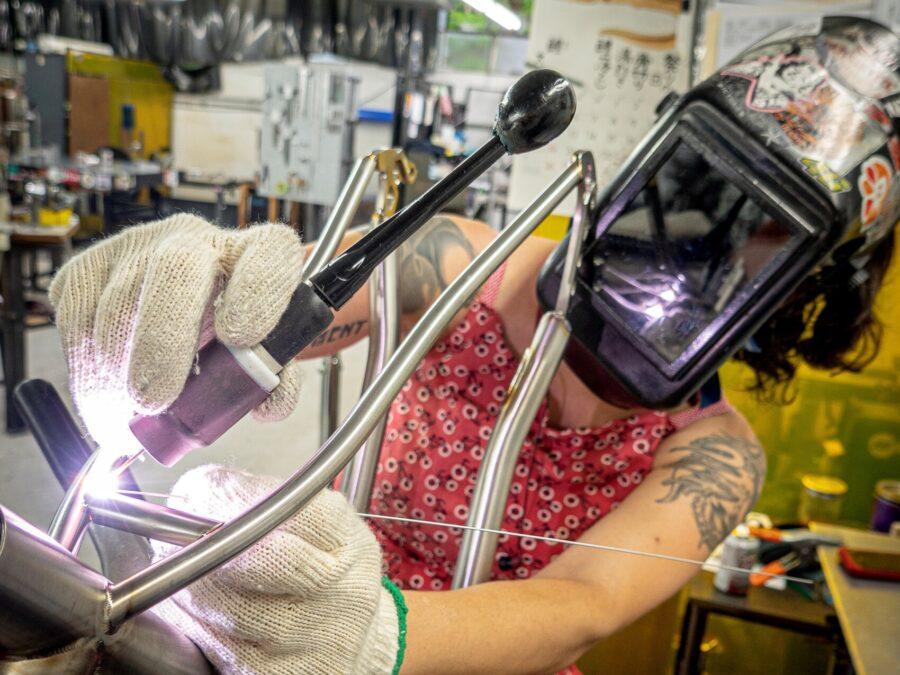 Seven Stef arms length welding