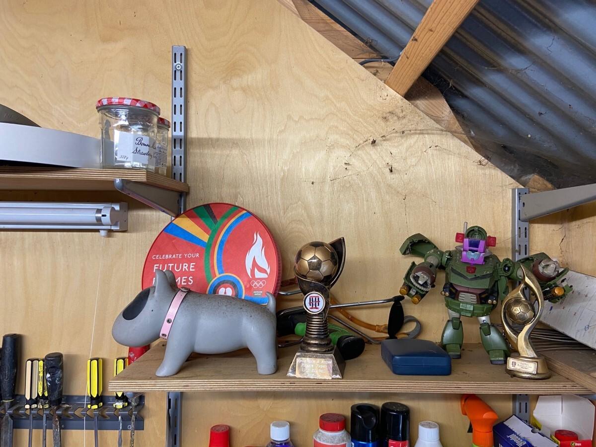 Shed shelf